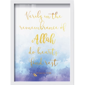 iwallyou Poster Islamic Remembrace Of Allah With Gold