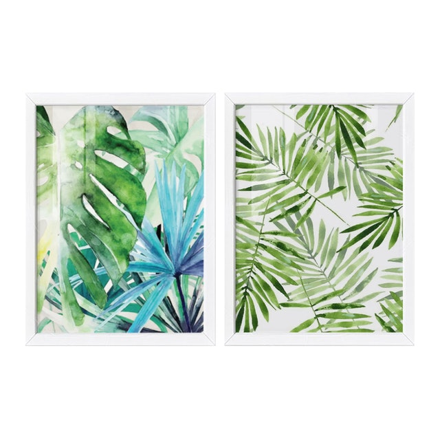 iwallyou Poster Palm & Monstera Water Color
