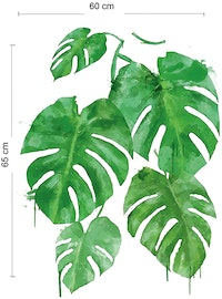 iwallyou Wall Sticker Water Color Monstera#2