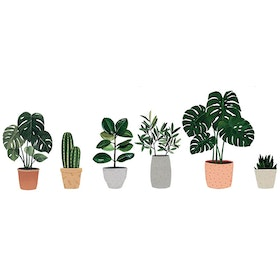 iwallyou Wall Sticker Tropical Plants On Pot