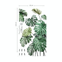 iwallyou Wall Sticker Tropical Monstera Garden