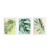 iwallyou Poster Set Tropical Leaves Water Color