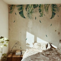 iwallyou Wall Sticker Tropical Hanging Plants
