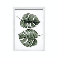iwallyou Duo Monstera Wall Poster