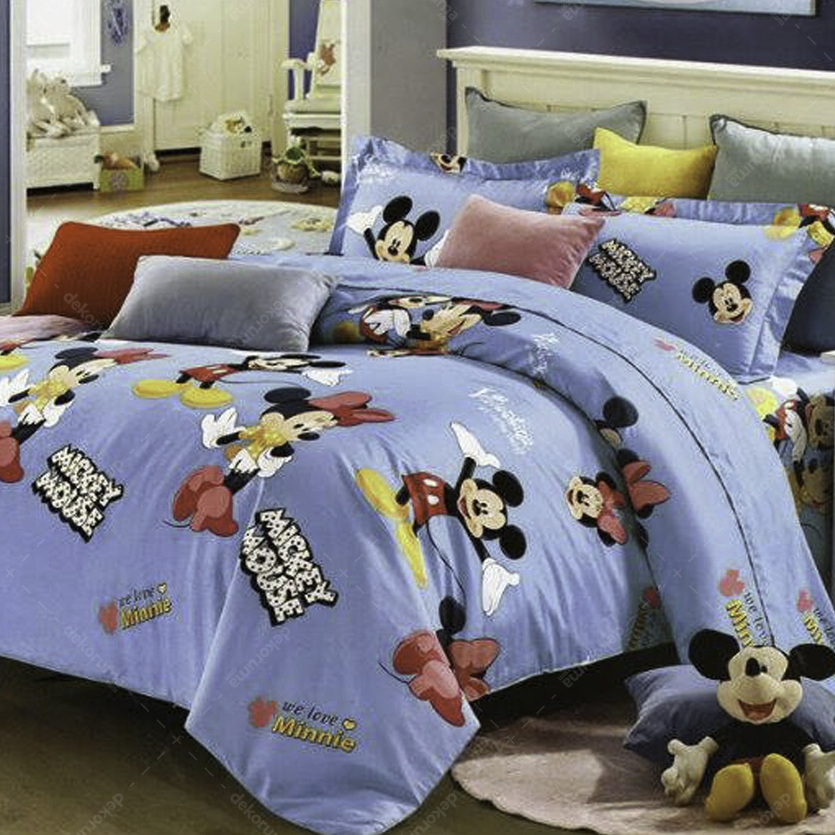 Juzzshop Bedcover Katun Jepang Mickey Minnie JSED124 Double