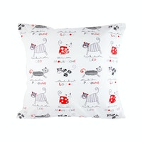 Eolins Sarung Bantal Sofa Cat JSPS070 40x40cm Broken White 2 pcs