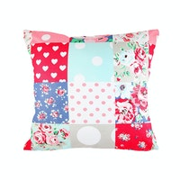 Eolins Sarung Bantal Sofa Patchwork JSPS071 40x40cm Multicolor 2 pcs