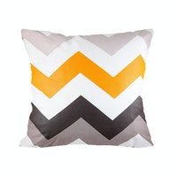 Eolins Sarung Bantal Sofa Chevron JSPS076 40x40cm Grey 2 pcs