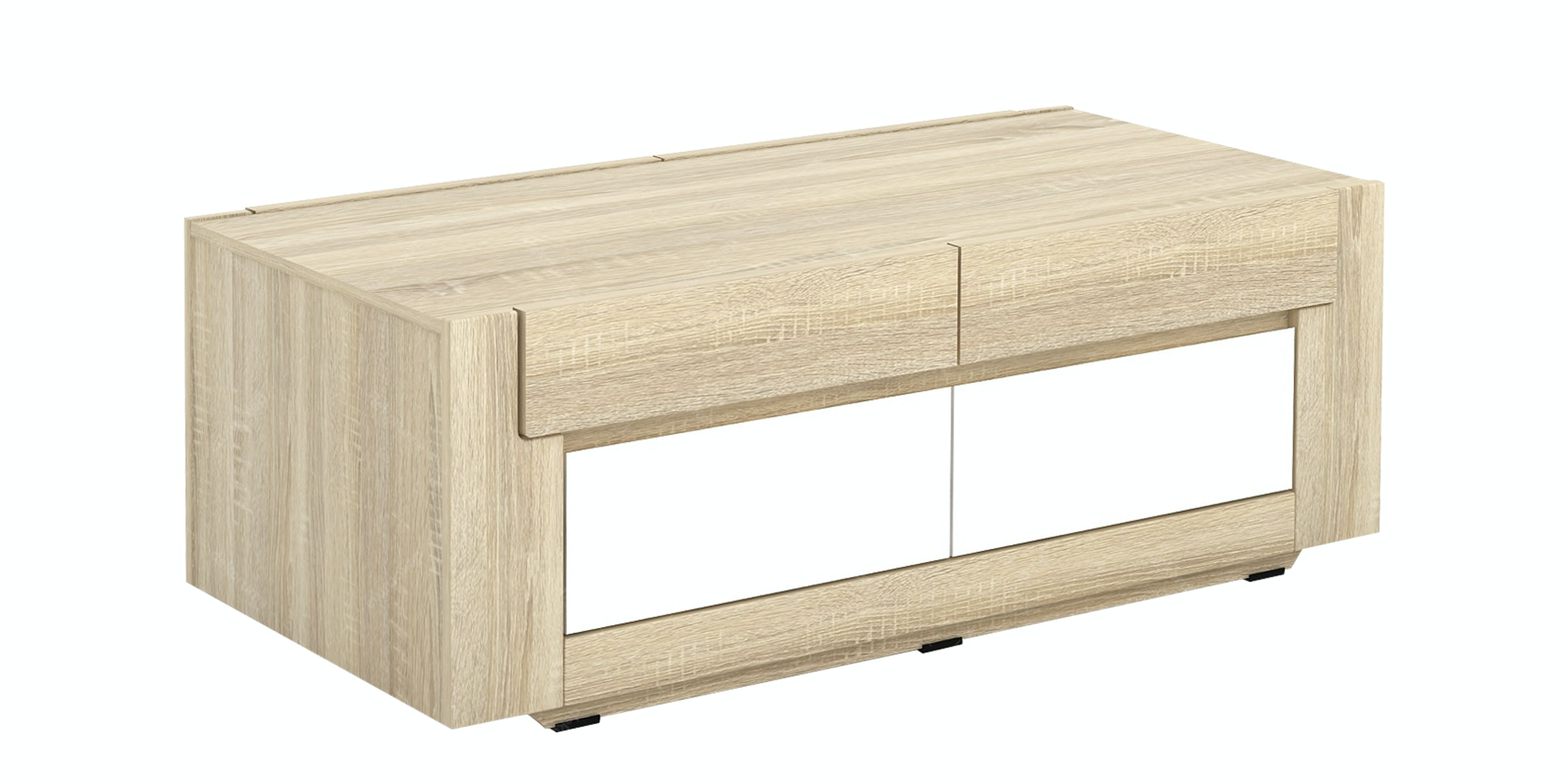 JYSK Coffee Table Elverhoy 124X60X45Cm Sonoma Oak White