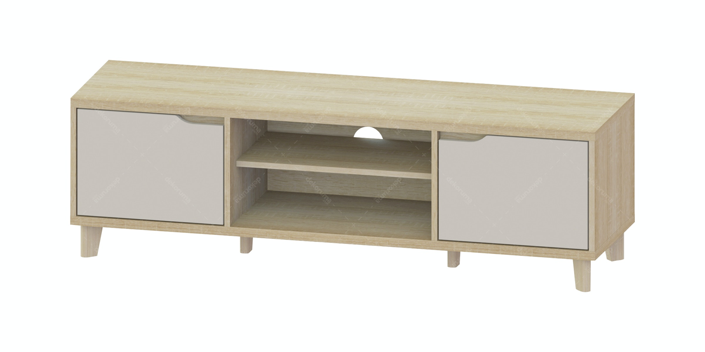 JYSK Tv Bench Karlstrup 140X39X42Cm Oak