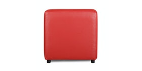 JYSK Pouffe Amma 45X45 Faux Leather Red
