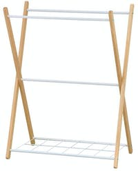JYSK Towel Rail Britta 62x34cm Chrome Wood