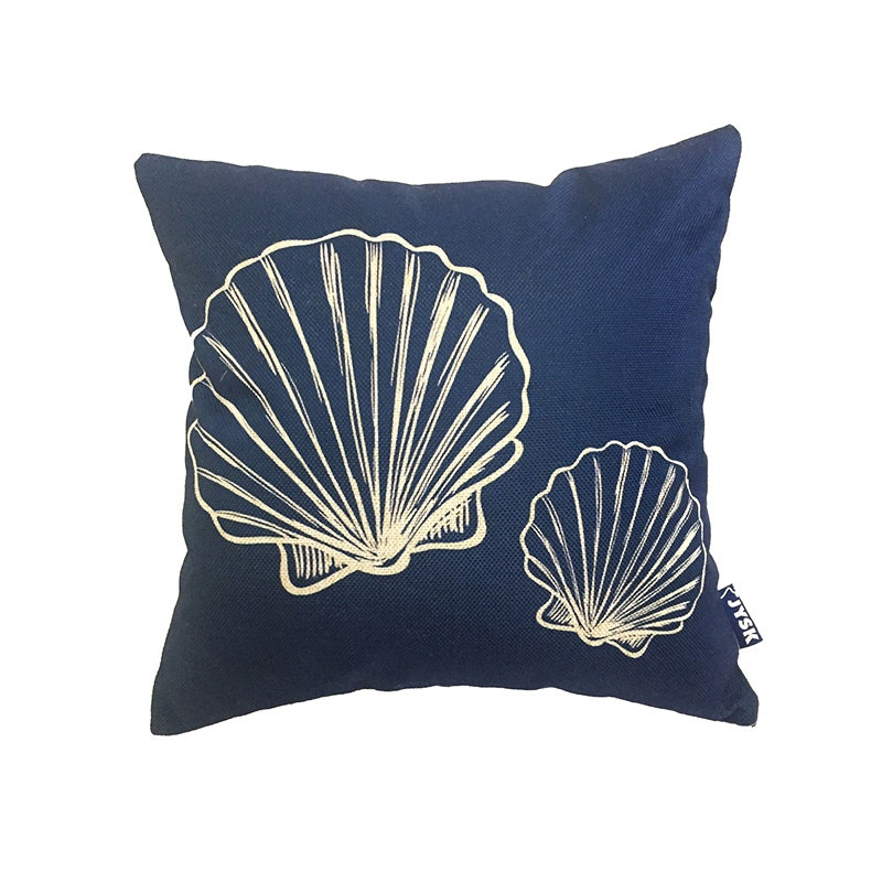 JYSK Cushion Cover Fake Linen Shell In Blue 40X40 Cm