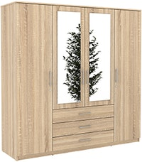 JYSK WARDROBE 4 DOORS VINDERUP WITH KEY 200X58X200CM OAK