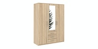 JYSK Wardrobe 3 Doors Vinderup With Key 150X58X200CM Oak