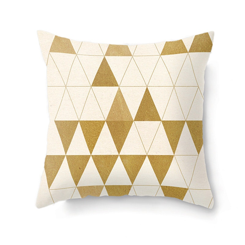 JYSK Cushion Cover Triangle Cotton 45X45 Cm - Sarung Bantal
