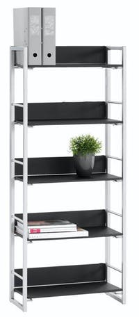 JYSK Bookcase 5 Shelves Gelsted 61X29X164 Cm Black