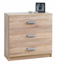 JYSK Chest 3 Drawers Kabdrup - Lemari Laci 71X35X69CM Oak
