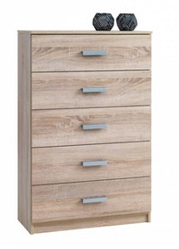 JYSK Chest 5 Drawers Wide Kabdrup 71X35X108CM Oak