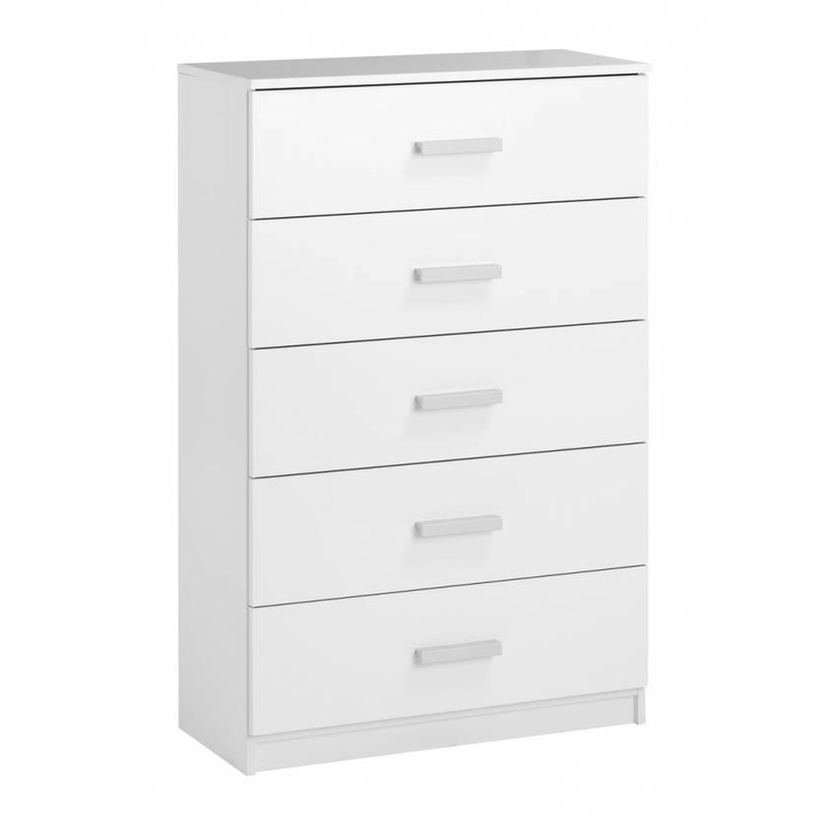 JYSK Chest 5 Drawers Wide Kabdrup 71X35X108CM White