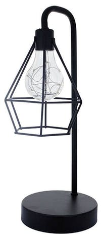 JYSK Decorative Lamp With Cage Black Iron