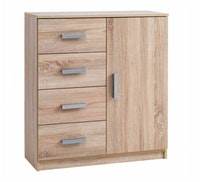 JYSK Chest 4 Drawers 1 Door - Lemari Laci Kabdrup 79X35X88Cm Oak