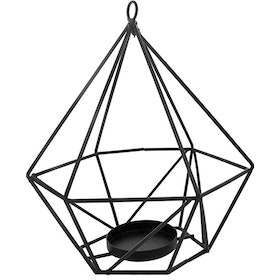 JYSK 17D186 Diamond Candle Holder - Black 14x14x16 Cm