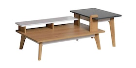JYSK Meja Tamu - Coffe Table Miguel 117X60X44Cm Oak White Grey