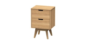 JYSK Bed Side Table Marius 40X30X59Cm Brown