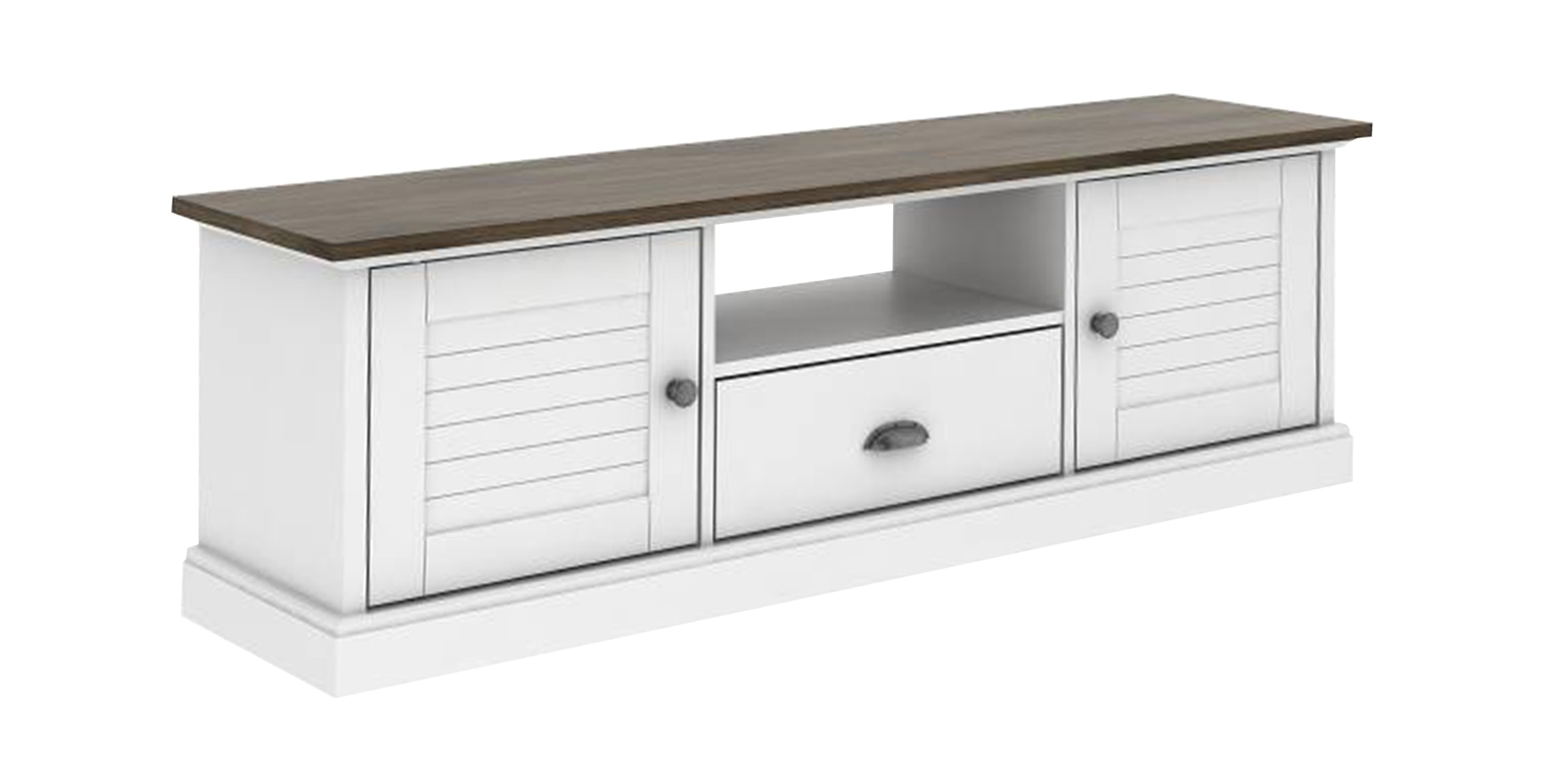 JYSK Tv Bench Helen 140X35X45Cm Country Rak TV Oak White