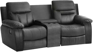 JYSK Sofa Recliner 2 Seater Zeus 192X99X96 Black