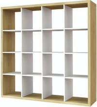 JYSK Room Divider Nysted 118X39X164Cm Toppan Oak White