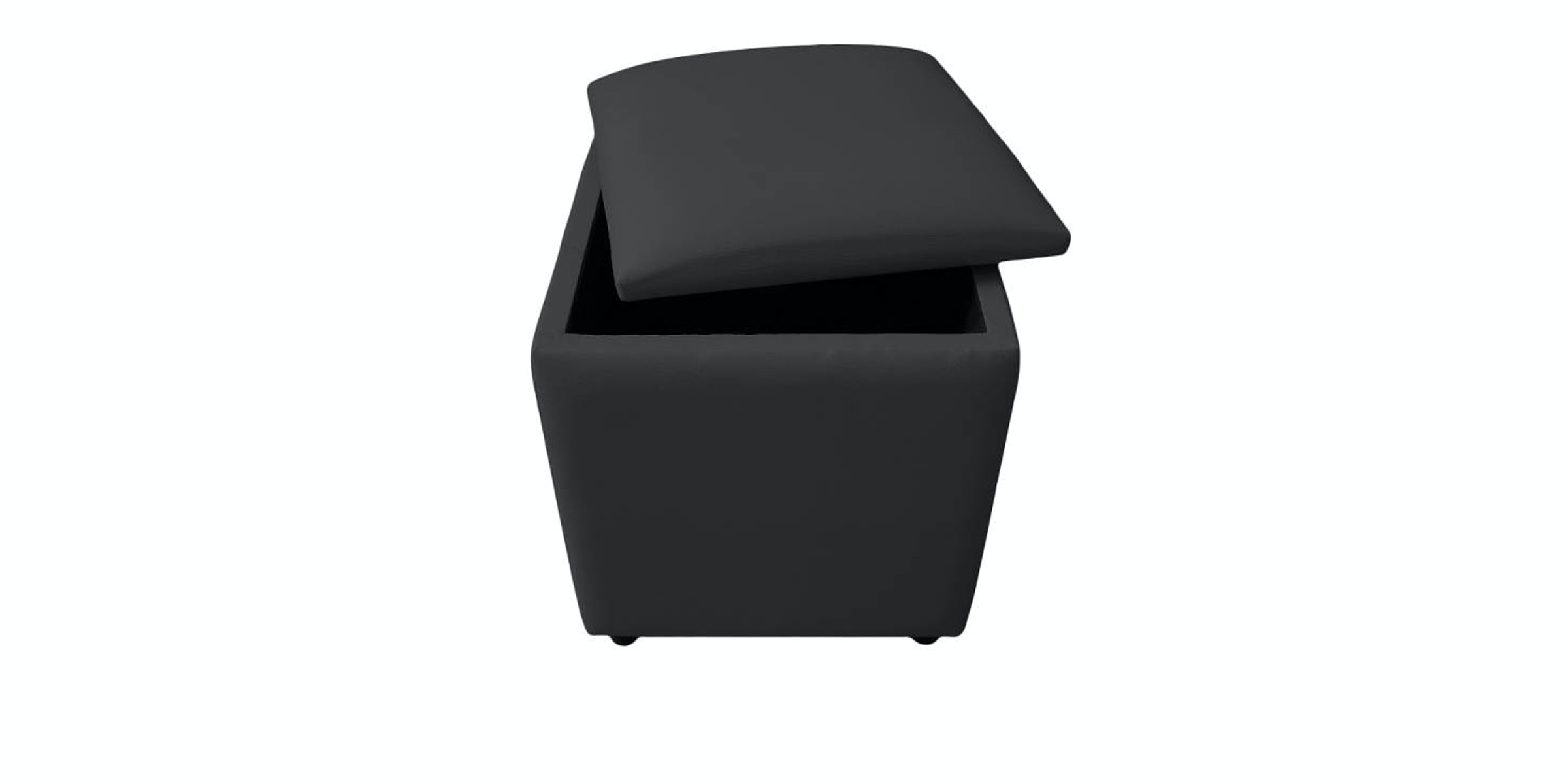 JYSK Pouffe Holeby With Storage 40X40Cm Black