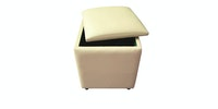 JYSK Pouffe Holeby With Storage 40X40Cm Cream