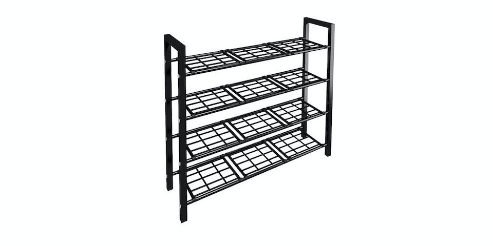 JYSK Shoe Rack 4 Shelves Agni 67X19X60Cm Metal Black