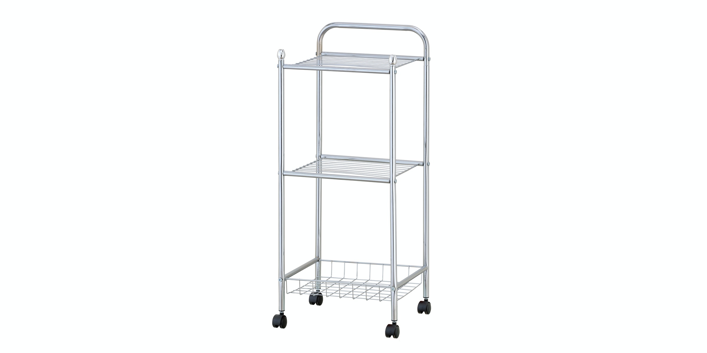 JYSK Trolley Glen 34X32X78Cm Chrome