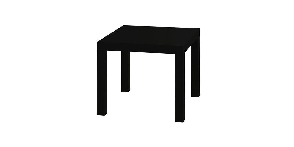 JYSK Koge Table - Pvc Black