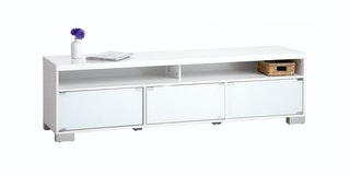 JYSK Tv Bench Aakirkeby 3 Doors High Gloss White