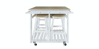 JYSK Kitchen Trolley Mayson 81X74X83Cm White Maple