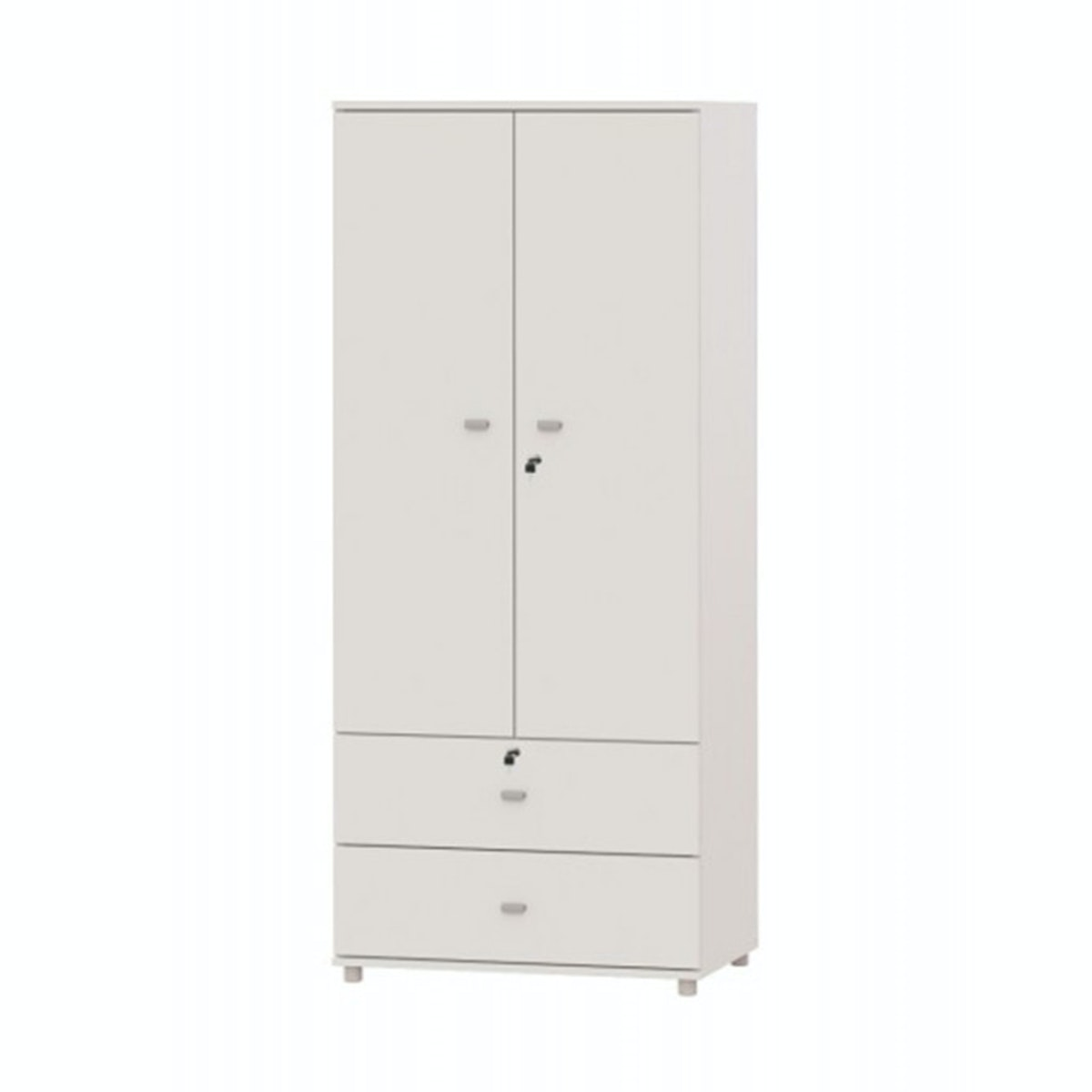 JYSK Wardrobe CANDY 2 doors 2 drawers with lock white