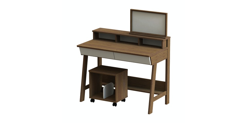 JYSK Desk Ostra 100X55 Walnut/White