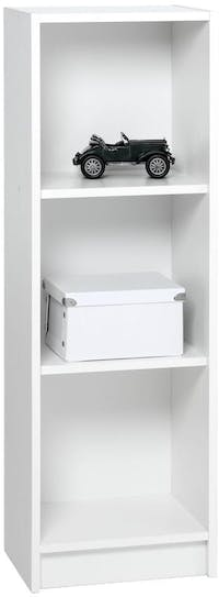 JYSK Bookcase Horsens 3 Shelves Slim White