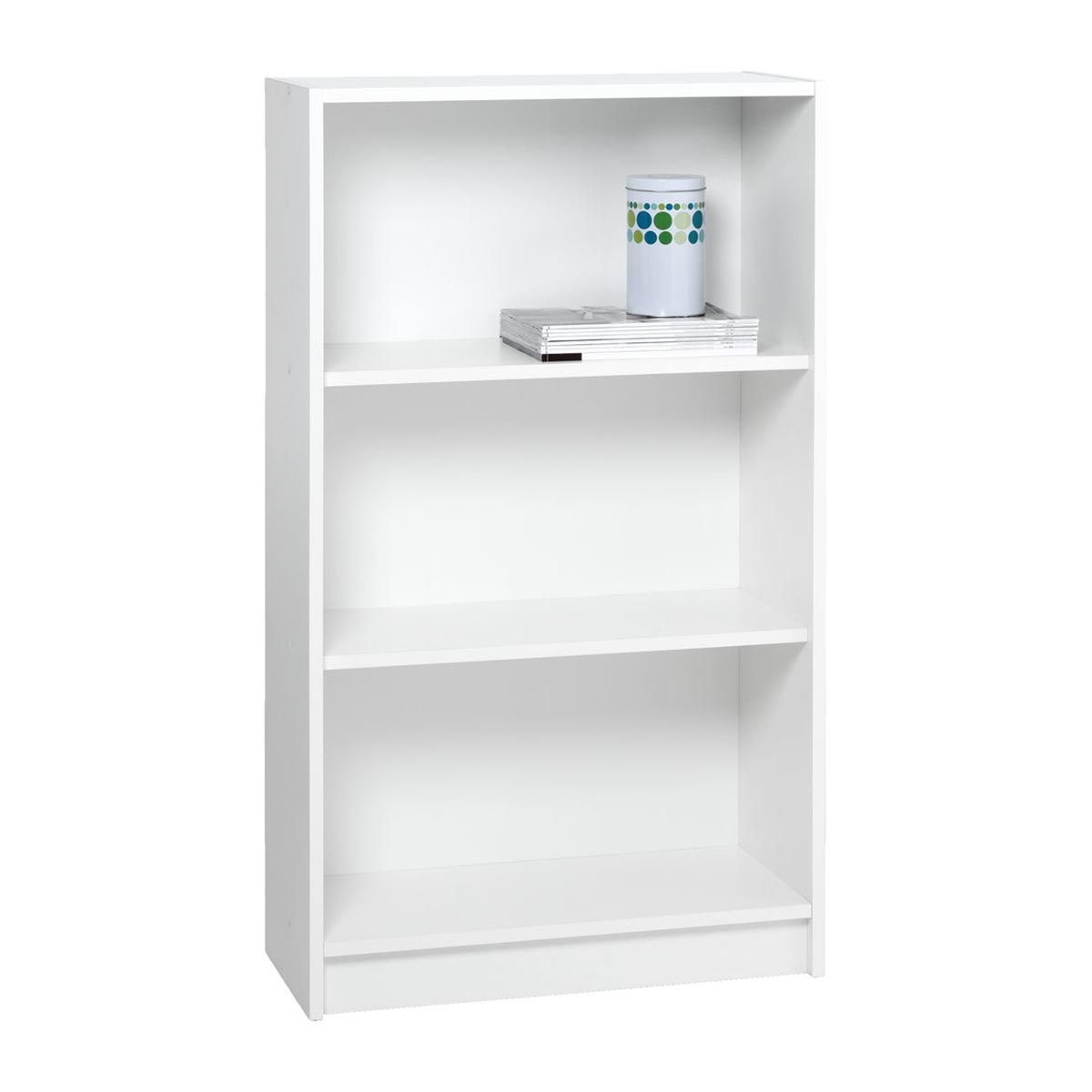 JYSK Bookcase Horsens 3 Shelves Wide White