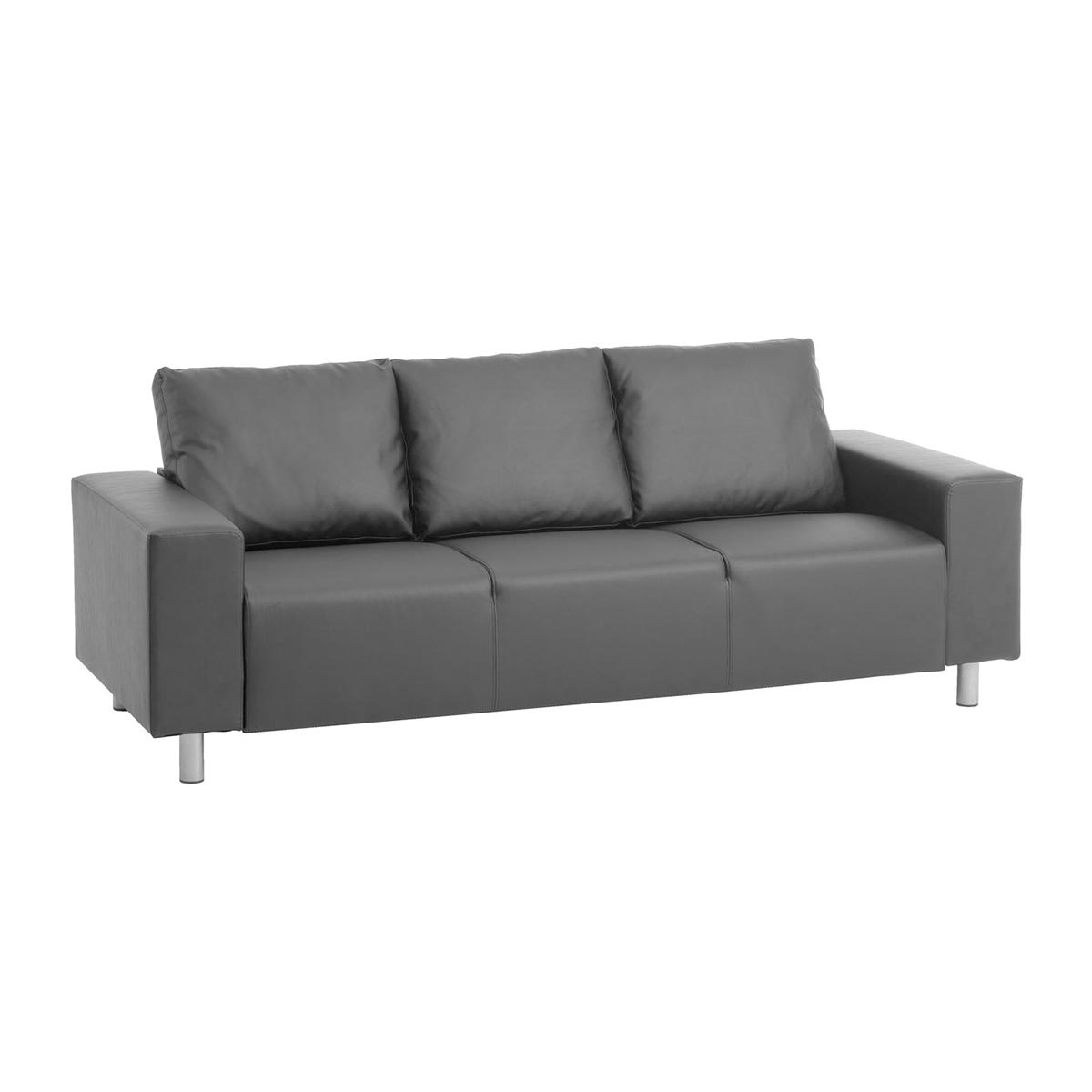 JYSK 3-Seater Galsted Faux Leather Black