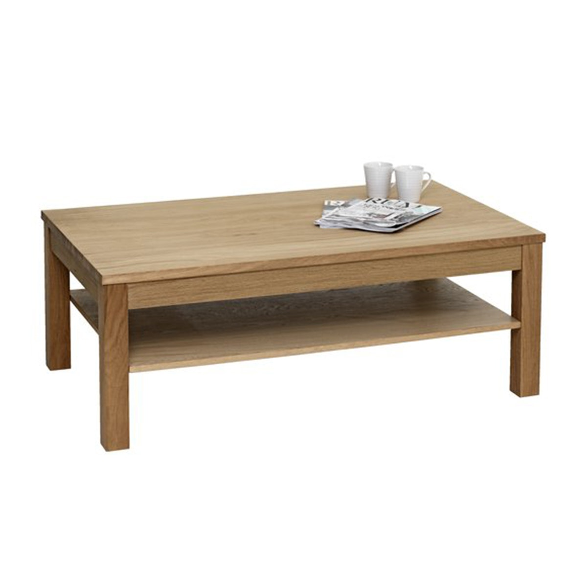 JYSK Coffee table SILKEBORG w/shelf oak
