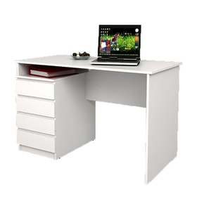 JYSK Desk MESINGE 4 drawers white