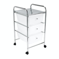 JYSK Trolley ALBERTSLUND 3 drawer white/chrome