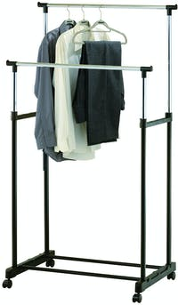 JYSK Clothes Rail Gudme Double Black
