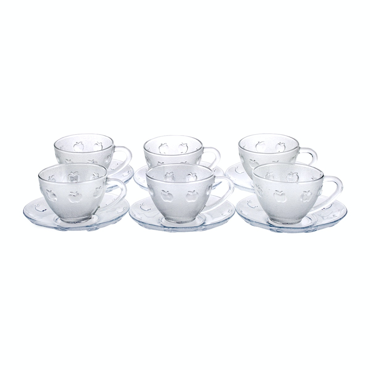 Kedaung Tea Set Of 6 Sets Cup And Saucer Motif Apel