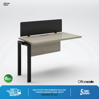 Officescale PX11206A1 WS 1 Seater Extention Desk 1200x600x750mm